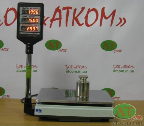 Ваги торгові ВТА-60/15-5 (НГЗ=15кг, d=2/5г, без акум.)