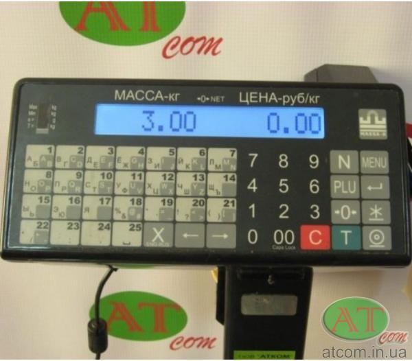 Товарні ваги з друком етикеток ТВ-M-300.2-P3 Масса-К