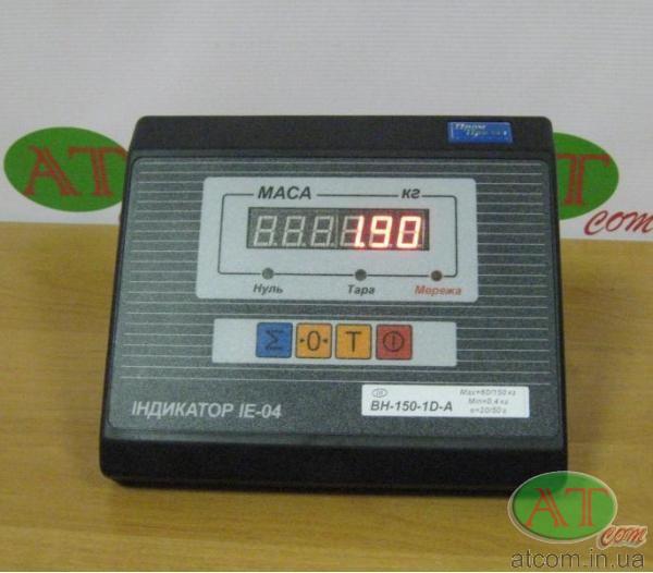 Весовой индикатор IE-04-А (светодиодный) со встроенным аккумулятором