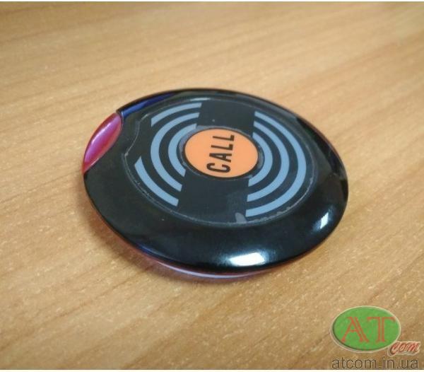 Кнопка вызова официанта НСМ-100 черная RECS